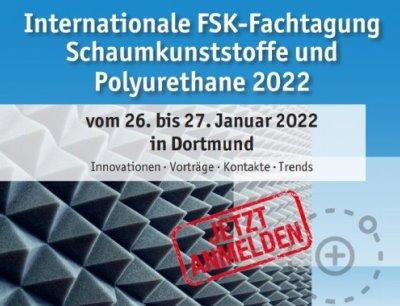 Jetzt anmelden zur Internationalen FSK-Fachtagung Schaumkunststoffe und Polyurethane 2022