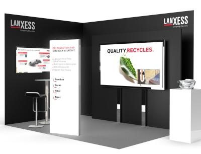 Lanxess präsentiert auf seinem Stand Material- und Technologielösungen für den Klimaschutz, die Kreislaufwirtschaft und den Leichtbau