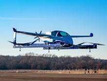 Boeing testete Anfang 2019 den Prototypen eines autonomen Flugtaxis