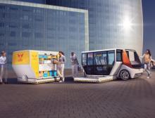 Das Concept Car Rinspeed Metrosnap denkt Mobilität neu - mit Materialien von Barlog